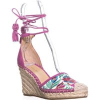 Ivanka Trump Wadia3 Espadrille Wedge Sandals, White Multi