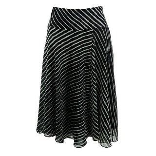 Lauren Ralph Lauren Womens Chiffon Striped Flare Skirt - 8
