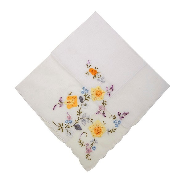 Pocket Full of Posies Embroidered Handkerchief