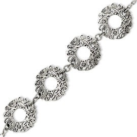 Stainless Steel Fancy Textured 7in with ext Bracelet