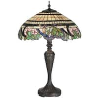 Meyda Tiffany 99725 Tiffany Three Light Up Lighting Table Lamp from the Grapevine Collection - Onyx