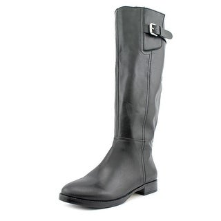 INC International Concepts Coco Women Round Toe Leather Knee High Boot