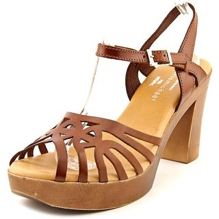 Eric Michael Rosie   Open Toe Leather  Platform Sandal