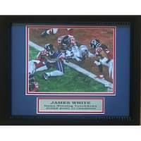 James White Autographed Patriots Super Bowl LI 51 Touchdown Signed Framed 8x10 Photo Fanatics COA