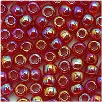 Toho Round Seed Beads 6/0 165C 'Transparent Rainbow Ruby' 8 Gram Tube