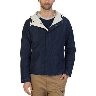 Nautica Mens Bomber Jacket Water Resistant Hooded