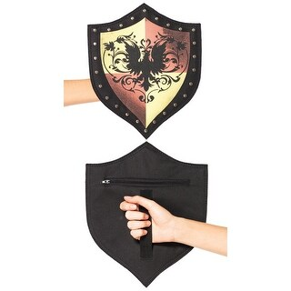 Warrior Coat of Arms Shield Costume Accessory - standard - one size