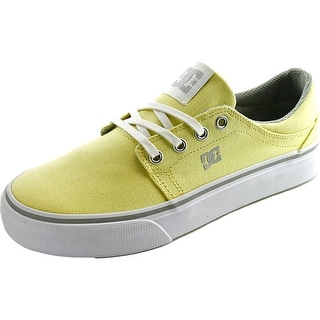 DC Shoes Trase TX Women Round Toe Canvas Yellow Skate Shoe