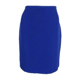 Tahari Women's Textured Crepe Pencil Skirt - Sapphire