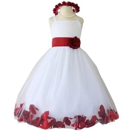 Flower Girl Dresses Rose Petal Wallao White (Baby - 14) Apple Red
