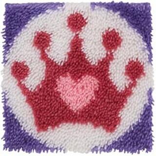 "Princess Crown - Wonderart Latch Hook Kit 12""X12"""