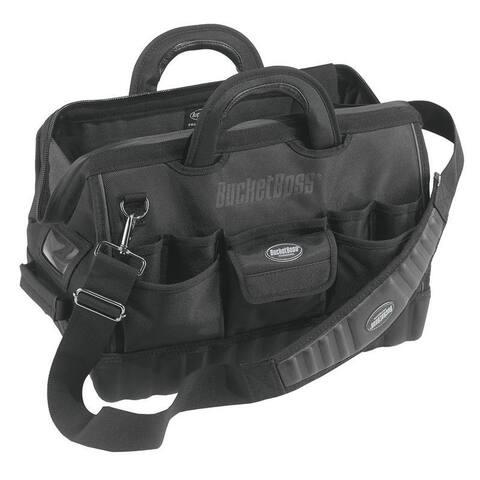 Bucket Boss 64018 Pro Gatemouth 18 All-Terrain Bottom Tool Bag with 17-Pockets