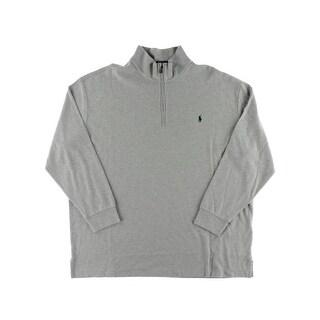 Polo Ralph Lauren Mens Big & Tall Sweater 1/4 Zip Heathered