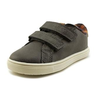 Carter's Gus3 Toddler Round Toe Leather Gray Walking Shoe