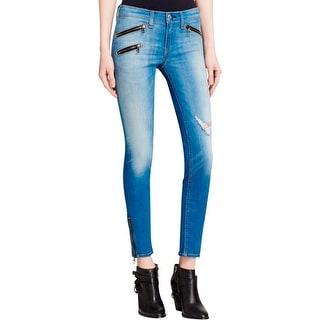 Rag & Bone Womens Skinny Jeans Denim Zipper
