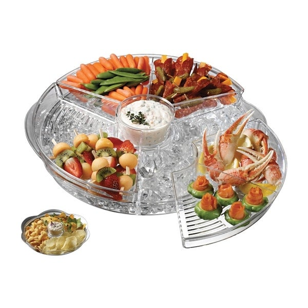 Prodyne AB-5 Appetizers On Ice Revolving Tray