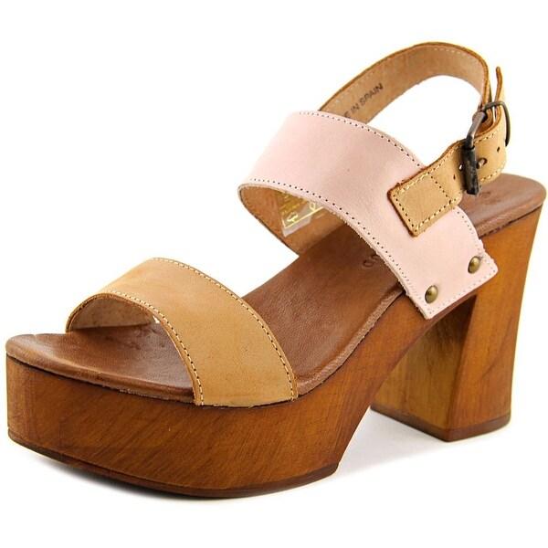 Musse & Cloud Leiza Women Open Toe Leather Platform Sandal