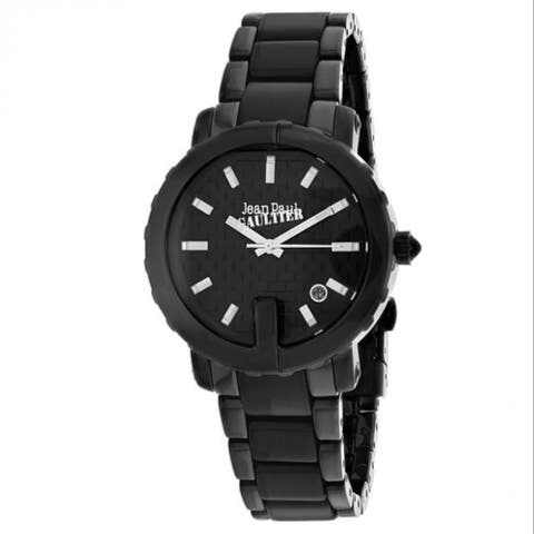 Jean Paul Gaultier Women's 8500514 'Classic' Black Leather Watch