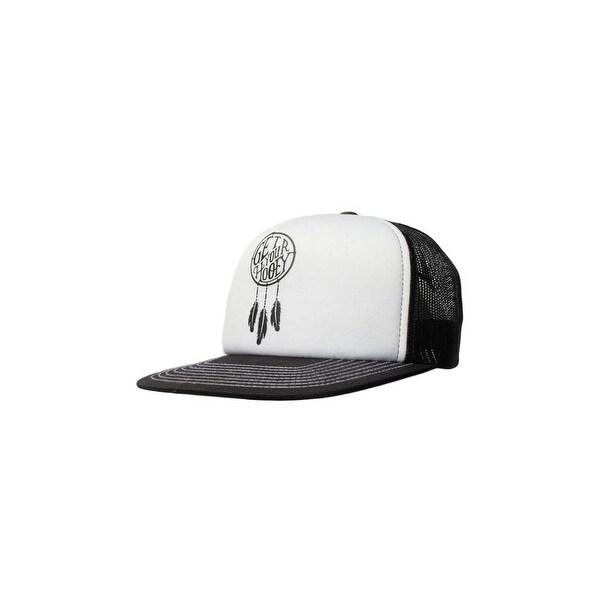 HOOey Hat Womens Dreamcatcher Mesh Back O/S White Black 1724T-WHBK