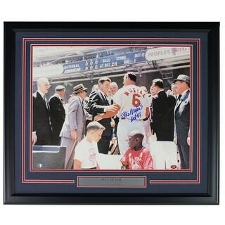 Stan Musial Signed Framed STL Cardinals 16x20 Photo W/JFK HOF 69 SI+Musial COA