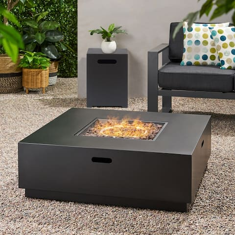 Wellington Outdoor 40-inch Square Firepit by Christopher Knight Home