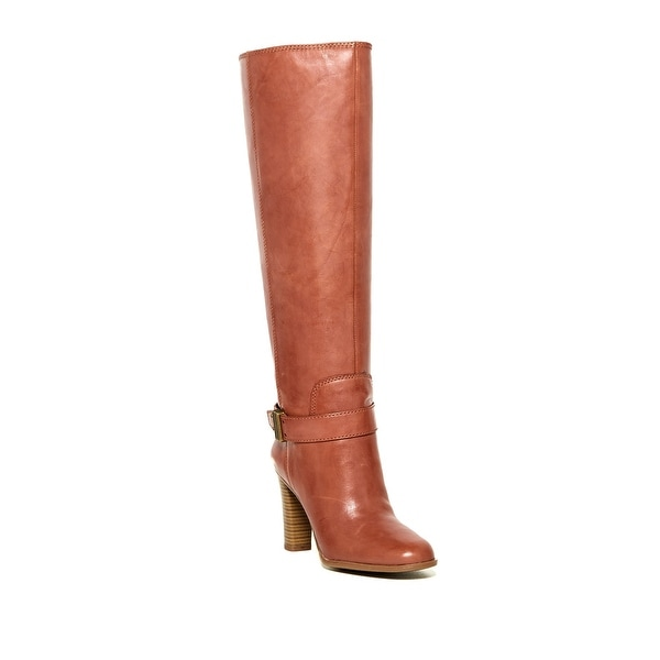 Enzo Angiolini Womens Sumilow Leather Almond Toe Knee High Fashion Boots Wide...