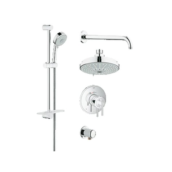 Shop Grohe 35 056 GrohFlex Thermostatic Shower Faucet Package with ...