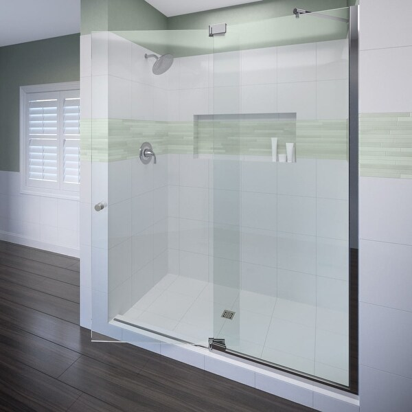 Shop Miseno Msdf4276 76 High X 42 Wide Hinged Frameless Shower