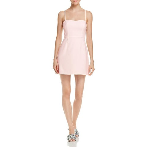French Connection Womens Mini Dress Pleated Adjustable Strap