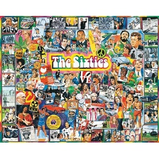 """The Sixties - Jigsaw Puzzle Ultimate Trivia 1000 Pieces 24""""X30"""""""