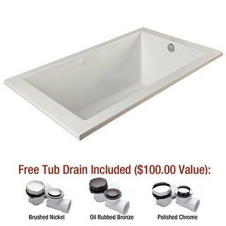 "Mirabelle MIREDA6032 Edenton 60"" X 32"" Drop-In Air Bath Tub with Reversible Drai"