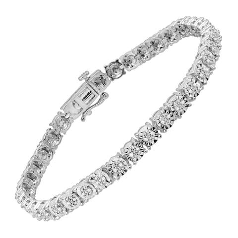 1/4 ct Diamond Tennis Bracelet in Sterling Silver