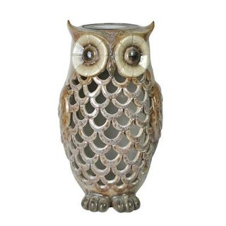 Southwire 91581 Mr Owl Solar Light Tan