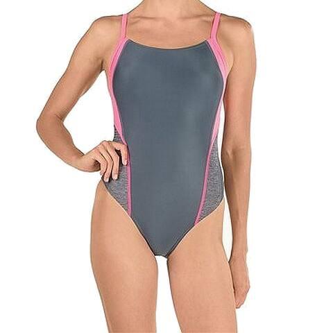Speedo Gray Womens Size 10 ProLT Competitive One-Piece Swimwear