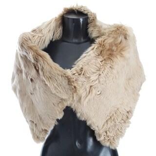 Dolce & Gabbana Beige Alpaca Collar Scarf - it40-xs