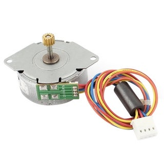 Unique Bargains DC 12V 2 Phase 4 Wires Gear Stepper Motor Reduction