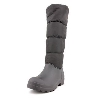 Dirty Laundry Paz Women Round Toe Canvas Black Snow Boot
