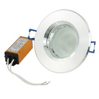 Unique Bargains 3W Alluminum Case Warm White 3 LEDs Ceiling Recessed Down Light Bulb 3000-3500K