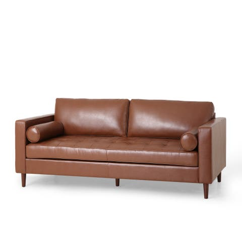 "Malinta Contemporary Tufted 3 Seater Sofa by Christopher Knight Home - 82.25"" L x 33.00"" W x 33.00"" H"