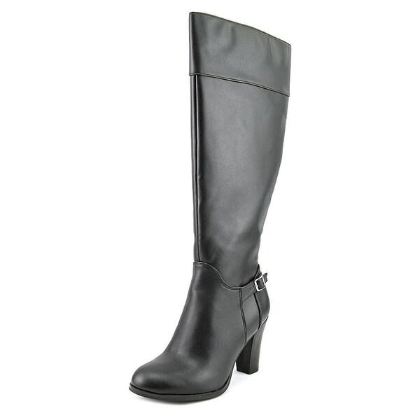 Giani Bernini Boelyn Wide Calf Women Round Toe Synthetic Black Knee High Boot