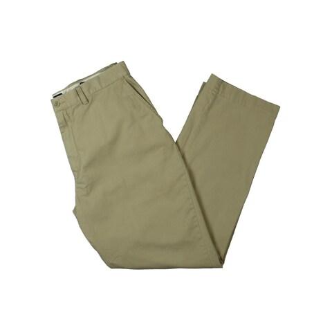 Polo Ralph Lauren Mens Khaki Pants Cotton Flat Front - 36/32