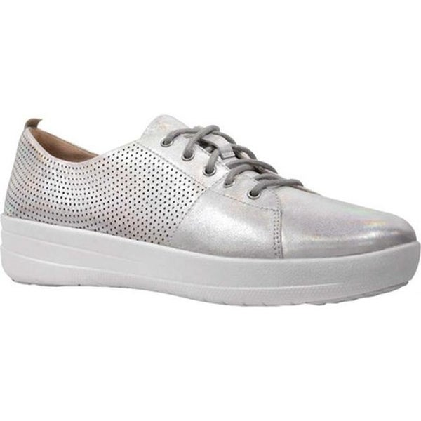d50dc75c07 Shop FitFlop Women's F Sporty Scoop Cut Perf Sneakers Silver Perforated  Leather - Free Shipping Today - Overstock - 21358783
