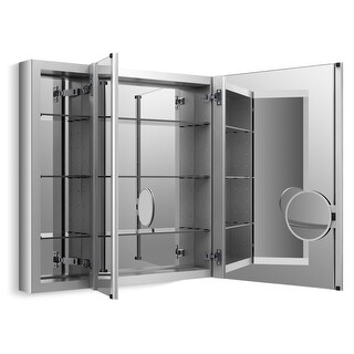 "Kohler K-99011 40"" x 30"" Triple Door Reversible Hinge Frameless Mirrored Medicine Cabinet from the Verdera Collection"
