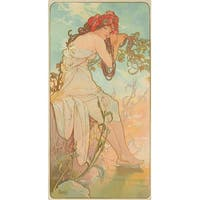The Seasons Summer (Mucha) Vintage Poster (Art Print - Multiple Sizes Available)