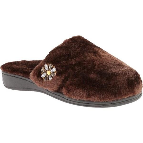 dab7ba6a6657 Shop Vionic Women s Gemma Luxe Slipper Dark Brown - Free Shipping ...