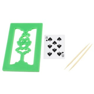 Comedians Magicians Plastic Board PlayingCard Magic Trick Gimmick Green