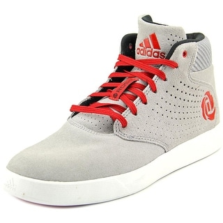 Adidas D Rose Lakeshore Mid Round Toe Suede Basketball Shoe