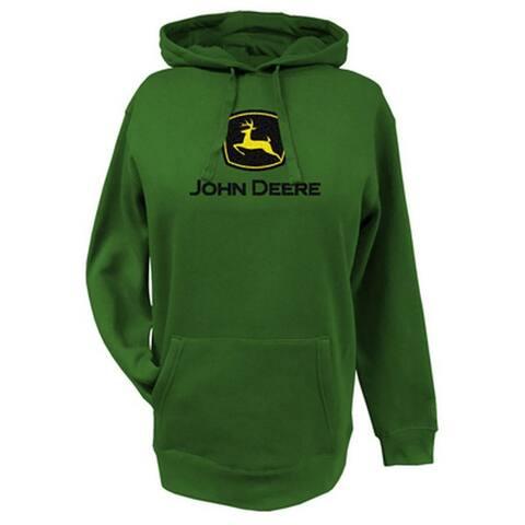 John Deere Western Sweatshirt Womens Fleece Hoodie Logo
