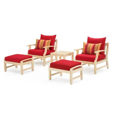 Kooper 5 Piece Club Chair & Ottoman Set