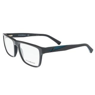 Emporio Armani EA3080 5502 Matte Grey Rectangle Optical Frames - matte grey - 55-18-140